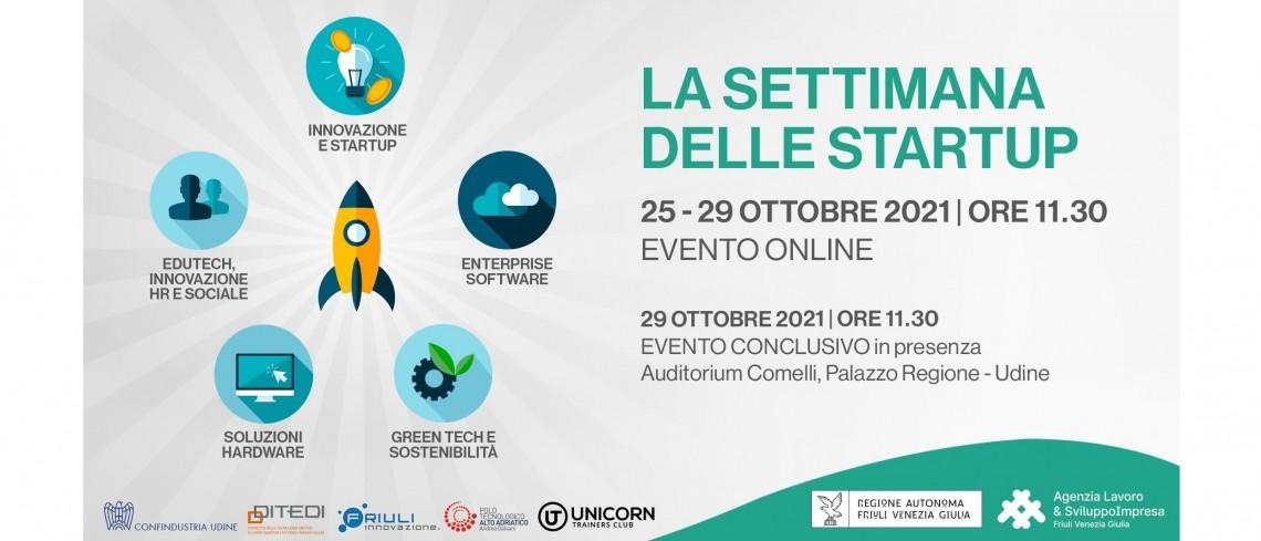 La settimana delle startup - 25 - 29 ottobre 2021